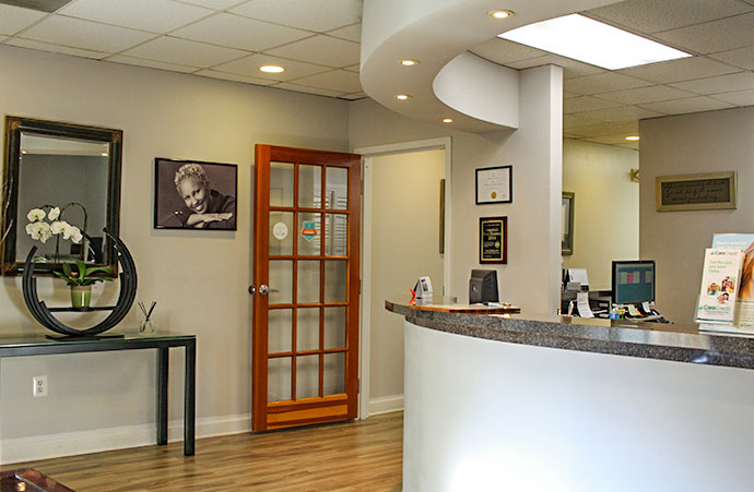 dental office main reception desk