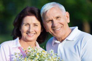 A happy senior couple.